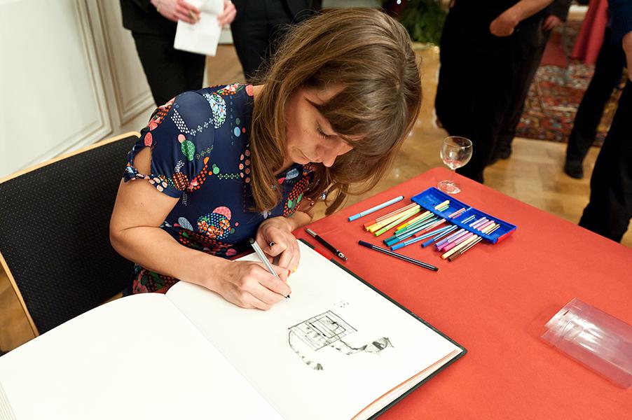 Signature du livre d'or – Hôtel de Ville de Strasbourg, 16 Décembre