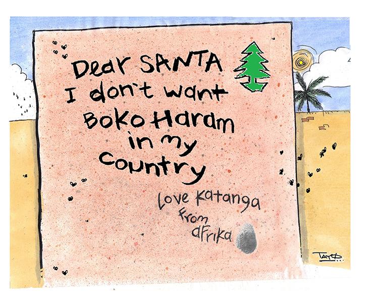 «Cher Père Noël, je ne veux plus de Boko Haram dans mon pays» – Tayo (Nigeria)