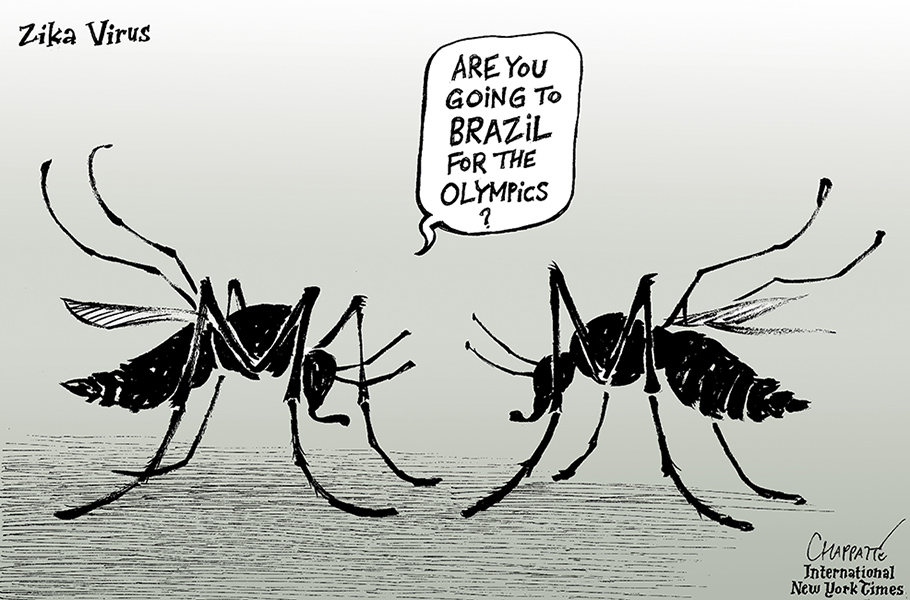 Chappatte (Switzerland), published in the International New York Times, February 8th, 2016