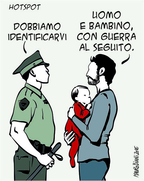 Mauro Biani (Italy), published in Il Manifesto