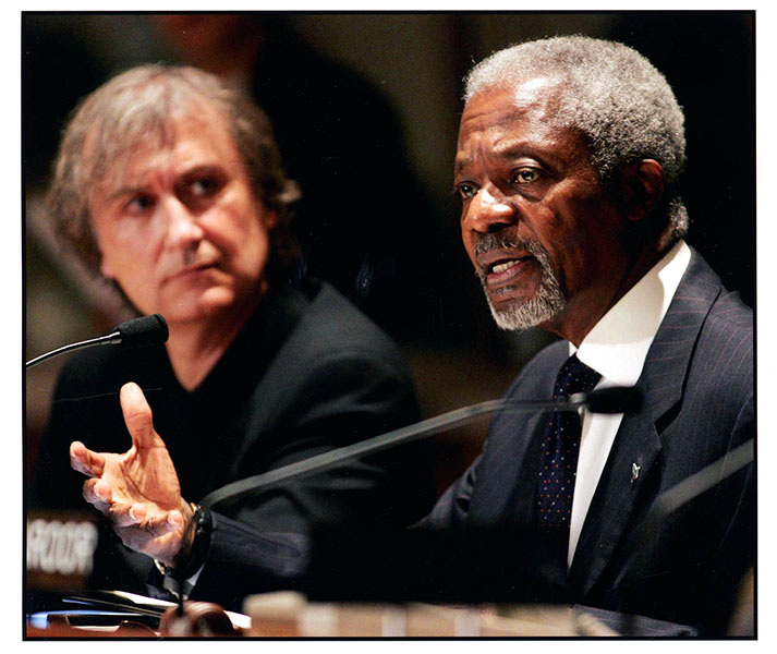 Kofi Annan and Plantu