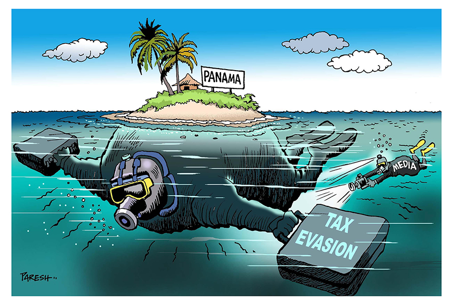 "Financial scandal: the ""Panama Papers"" sketched by our cartoonists! - Cartooning for Peace"