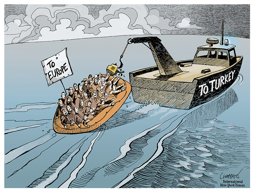 Chappatte (Switzerland), published in the International New York Times