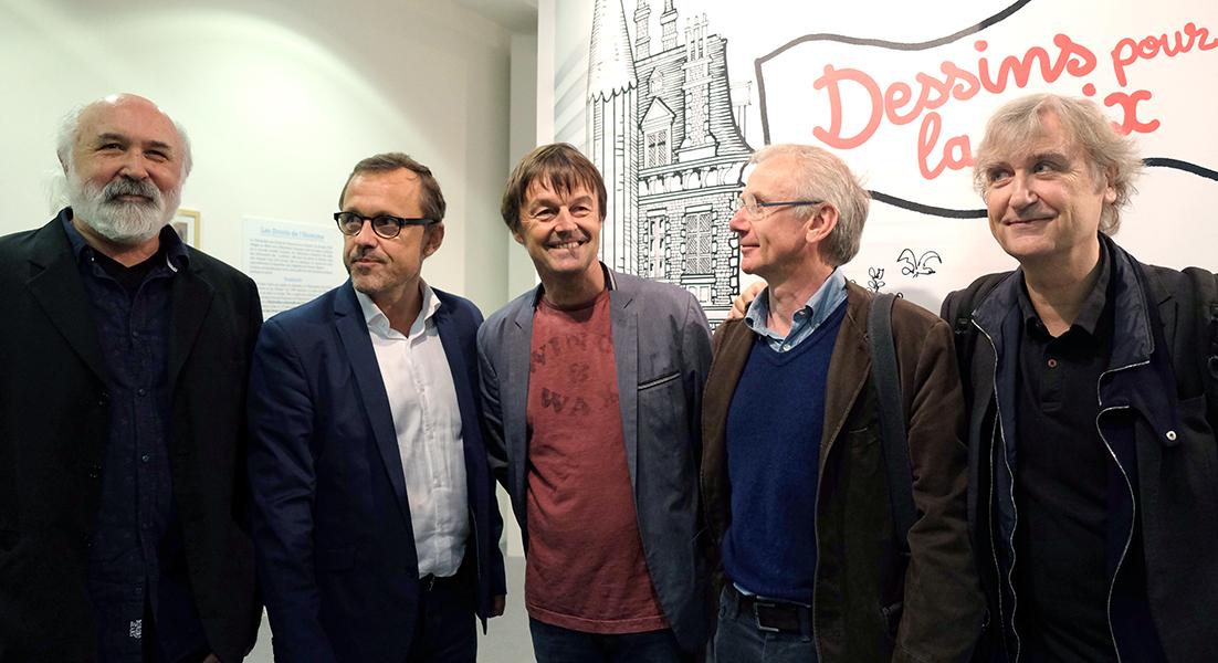 Goutal, Chaunu, Nicolas Hulot, Schvartz, Plantu