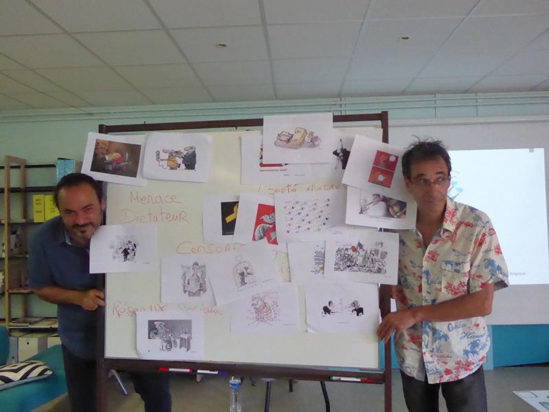 Nidhal (Tunisie) et RED! (France) au Collège Les Matagots à La Ciotat
