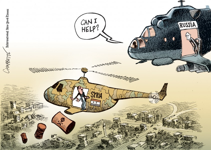 Chappatte (Switzerland), published in International New York Times
