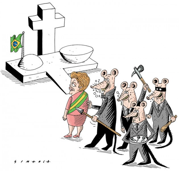 Simanca (Brazil), published in Caglecartoons