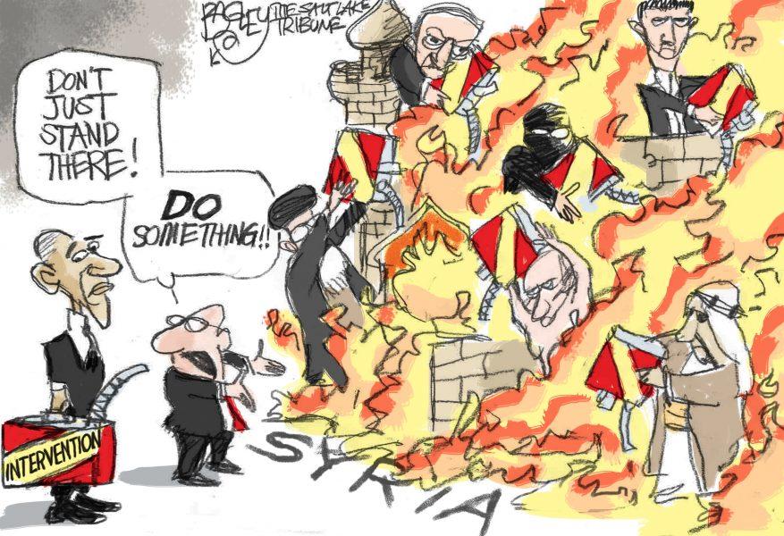 """Résultat de recherche d'images pour """"caricature bachar el assad et obama"""""""""""
