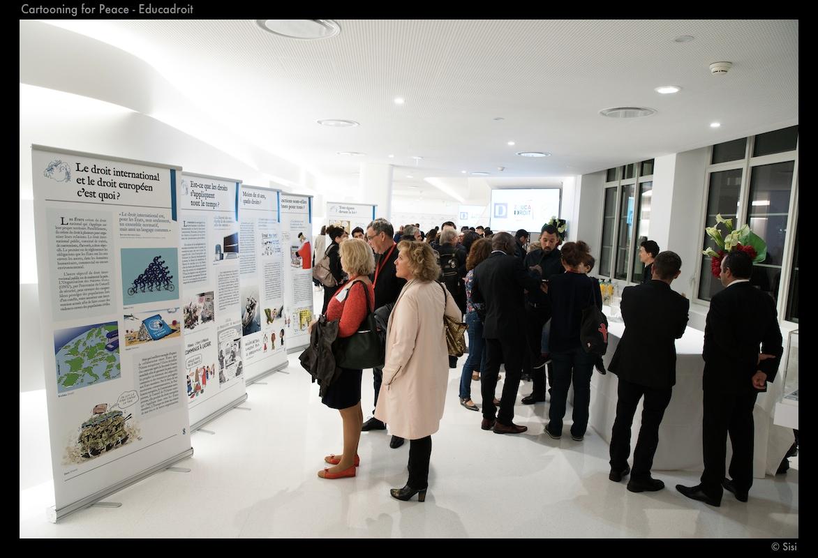 Lancement de Educadroit et de l'exposition © Sisi