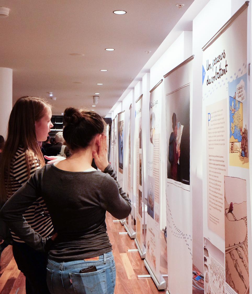 Présentation de l'exposition «Tous Migrants !»