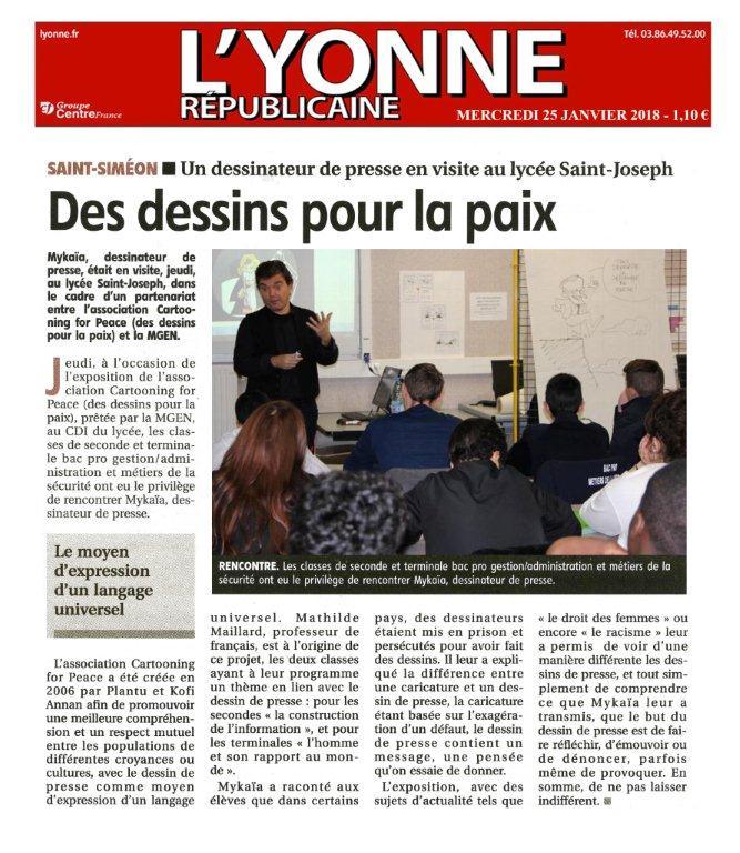Article paru dans L'Yonne républicaine