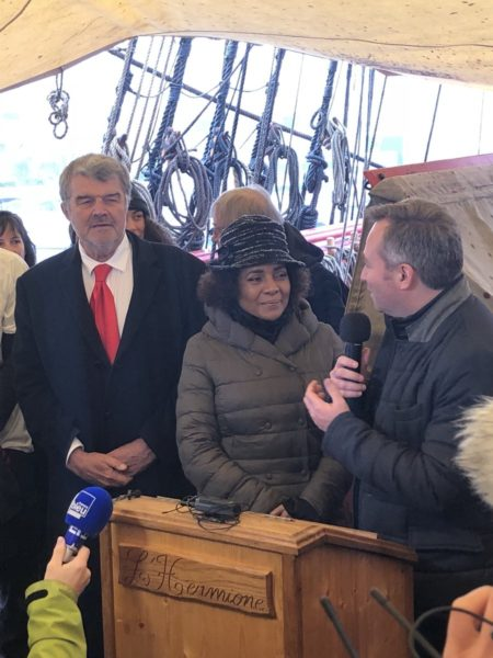 Inauguration du circuit avec Michaelle Jean