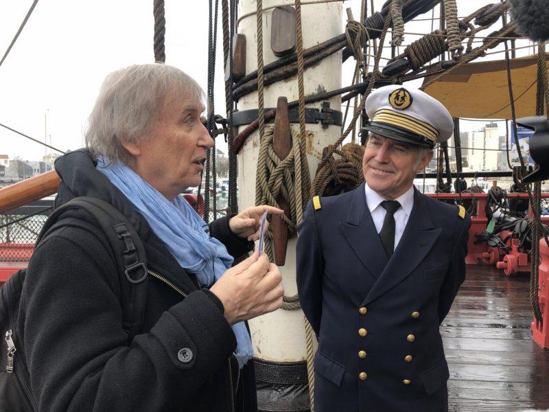 Plantu et le commandant Cariou