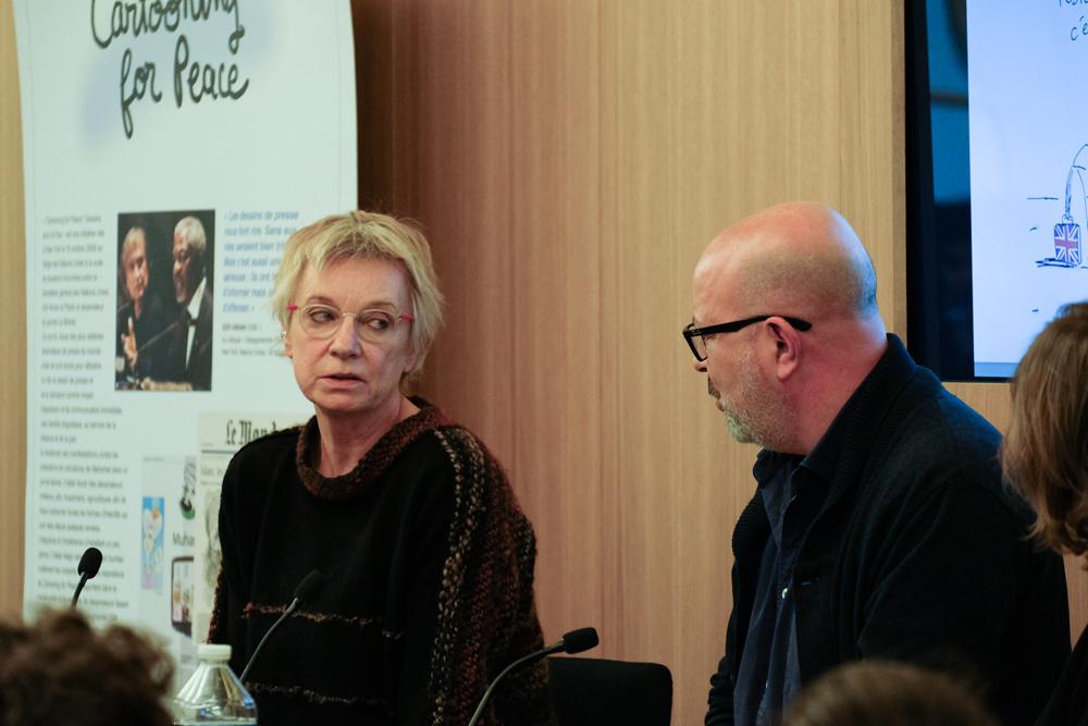 Cécile Bertrand et Xavier Gorce