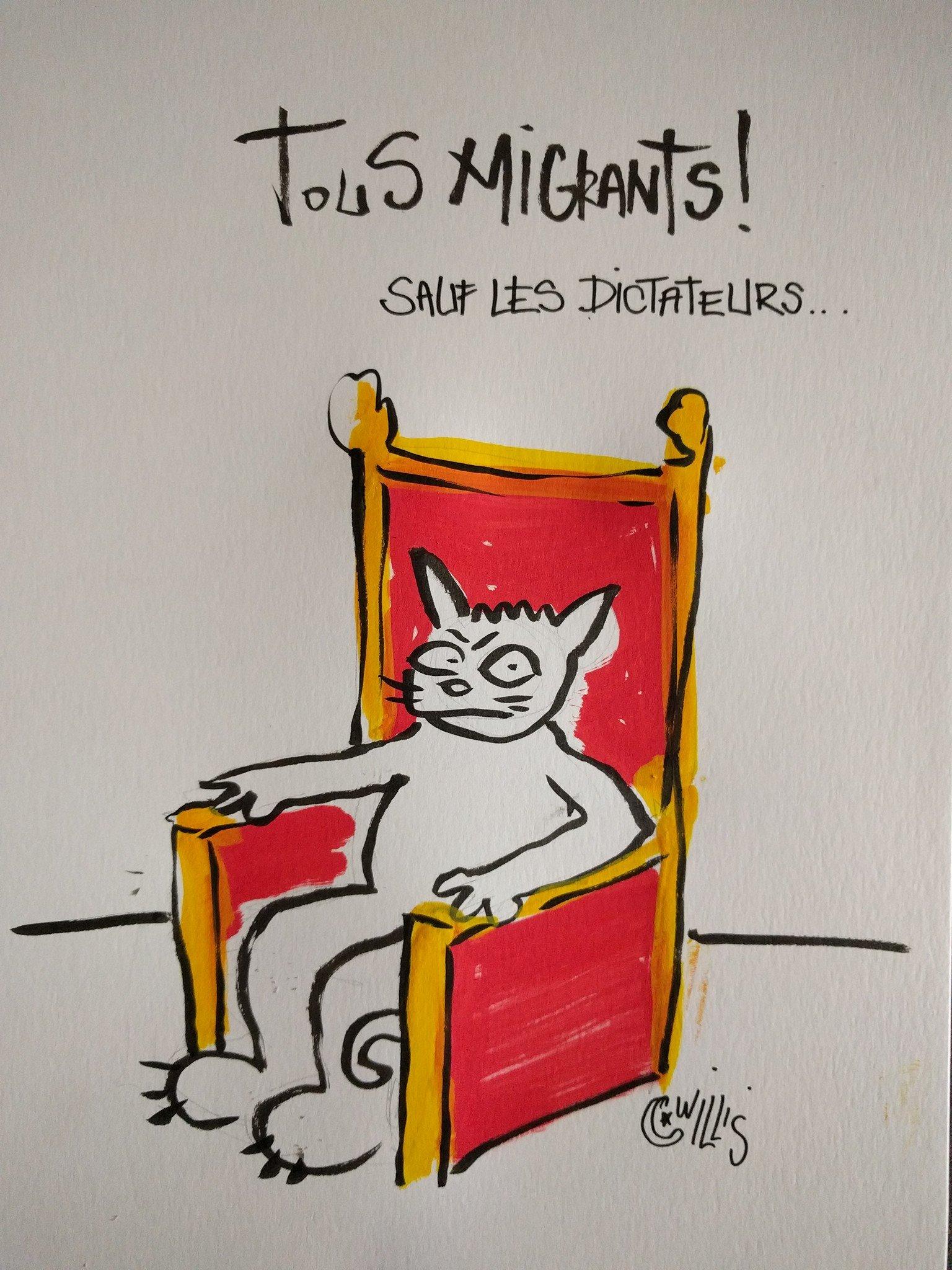 Dessin de Willis from Tunis, réalisé en direct pendant les conférences