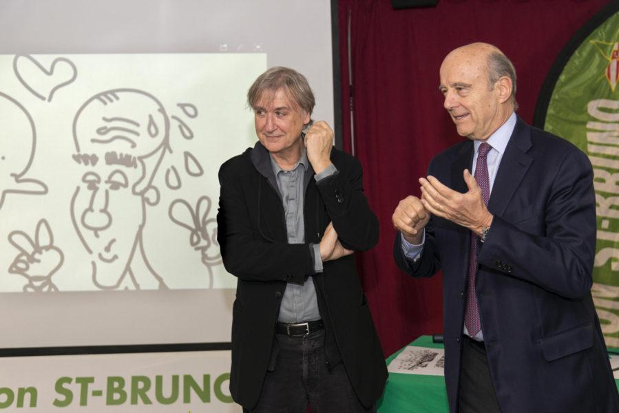 Plantu et Alain Juppé