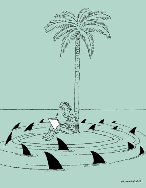 Supporting Avi Katz, cartoon by Kichka (Israel)