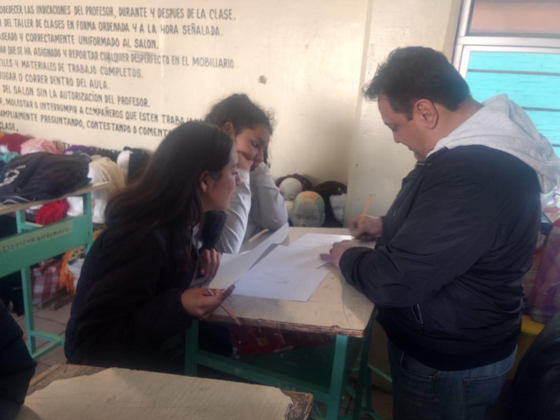 Workshop in school with Chubasco