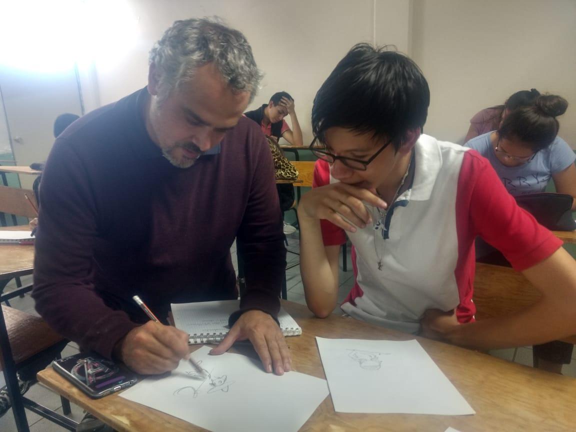 Worshop in school with El Fer