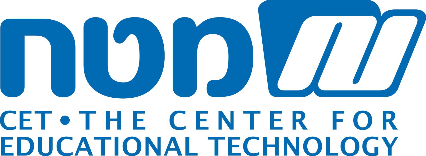 לוגו מטח באנגלית צבע כחול