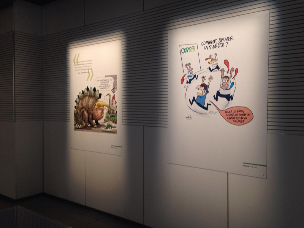 Vue of the exhibition « It's getting warmer for the planet! » at musée MW de l'électricité de FEDACULTURA