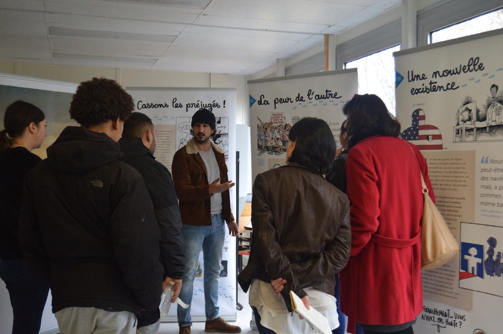 Visite de l'exposition «tous migrants !»