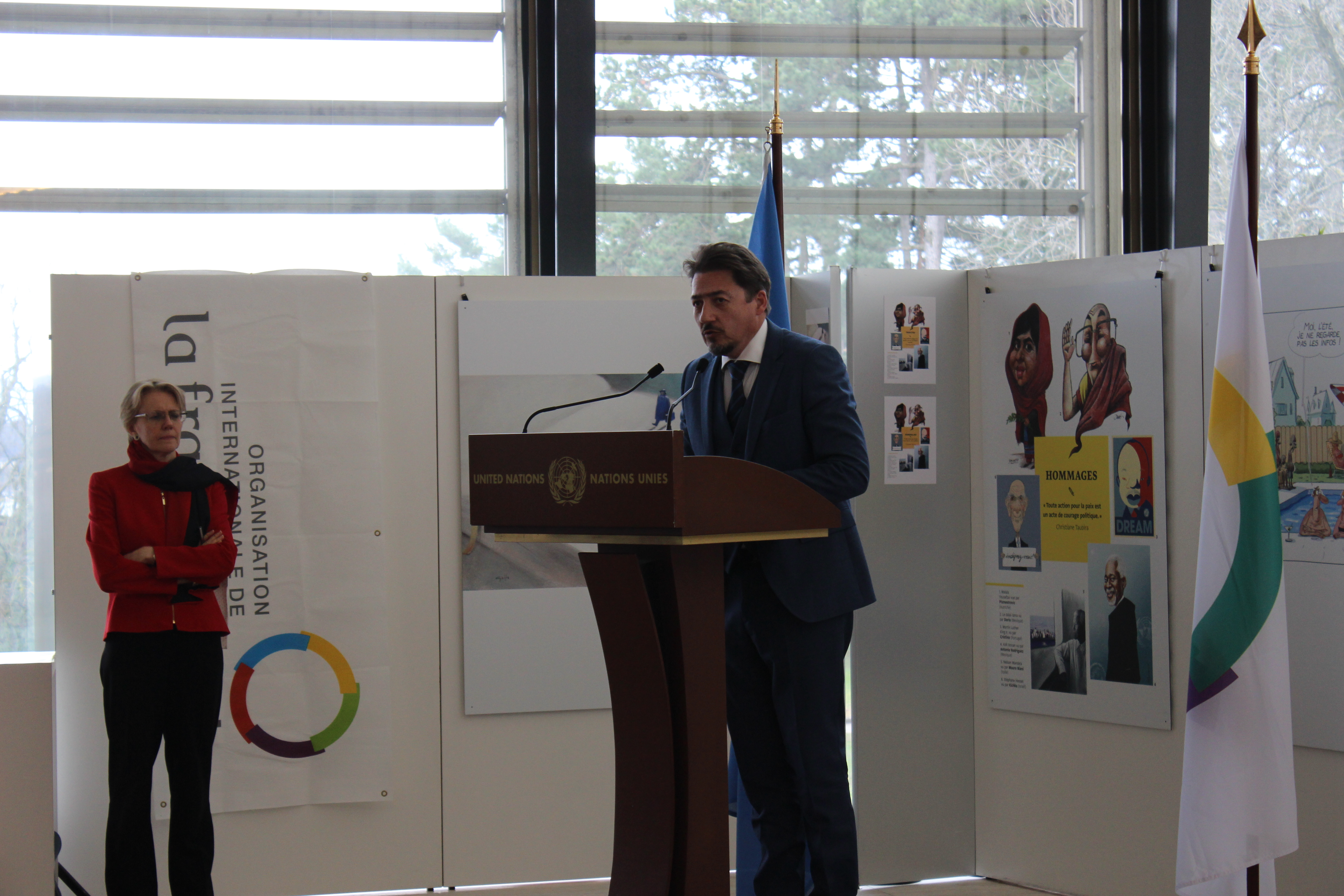 Preview of the exhibition « Human rights – still some way to go? »-photo: UN Geneva : Programme des activités culturelles
