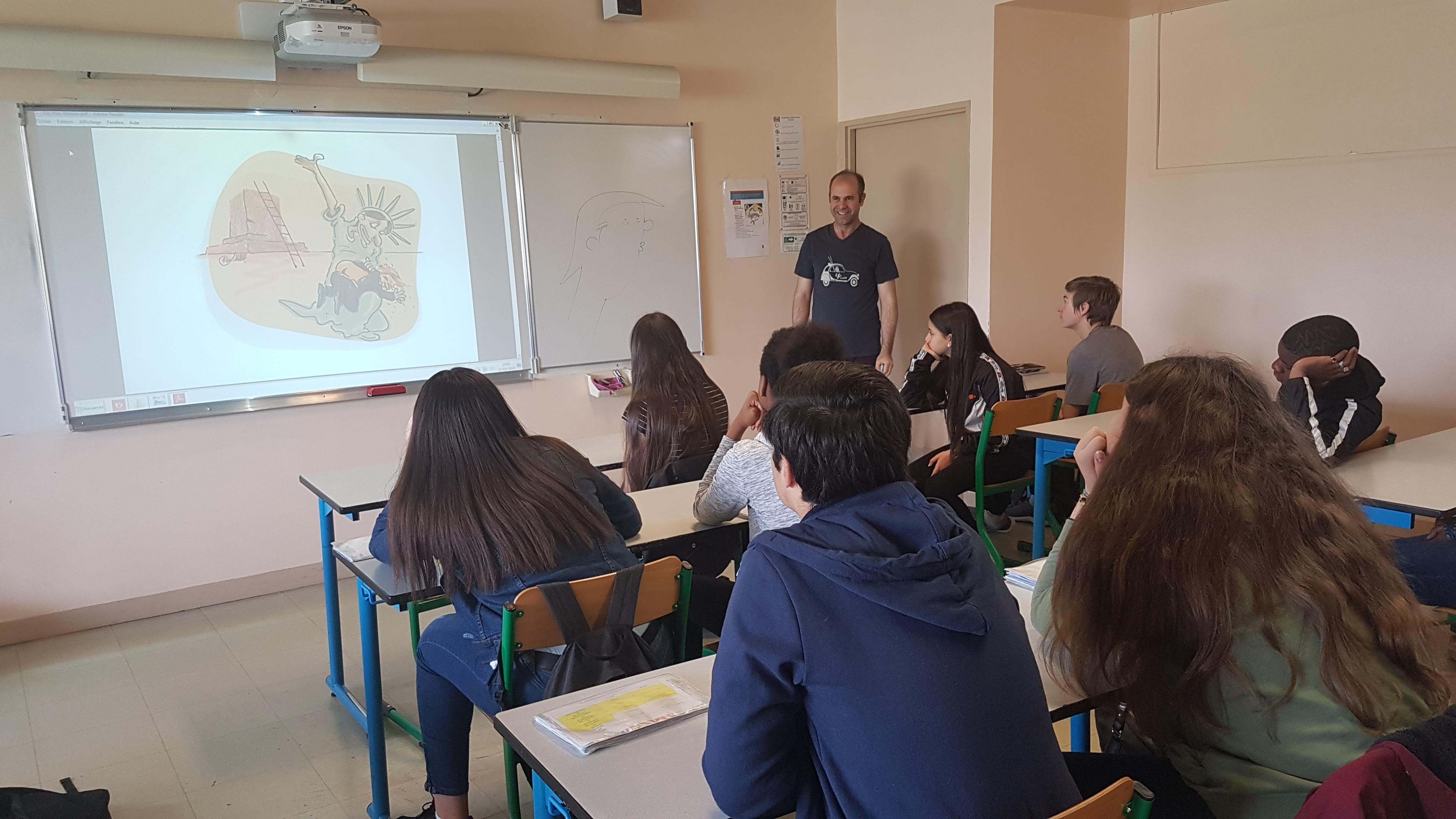 Ali Jamshidifar au collège Françoise Dolto de Villepinte