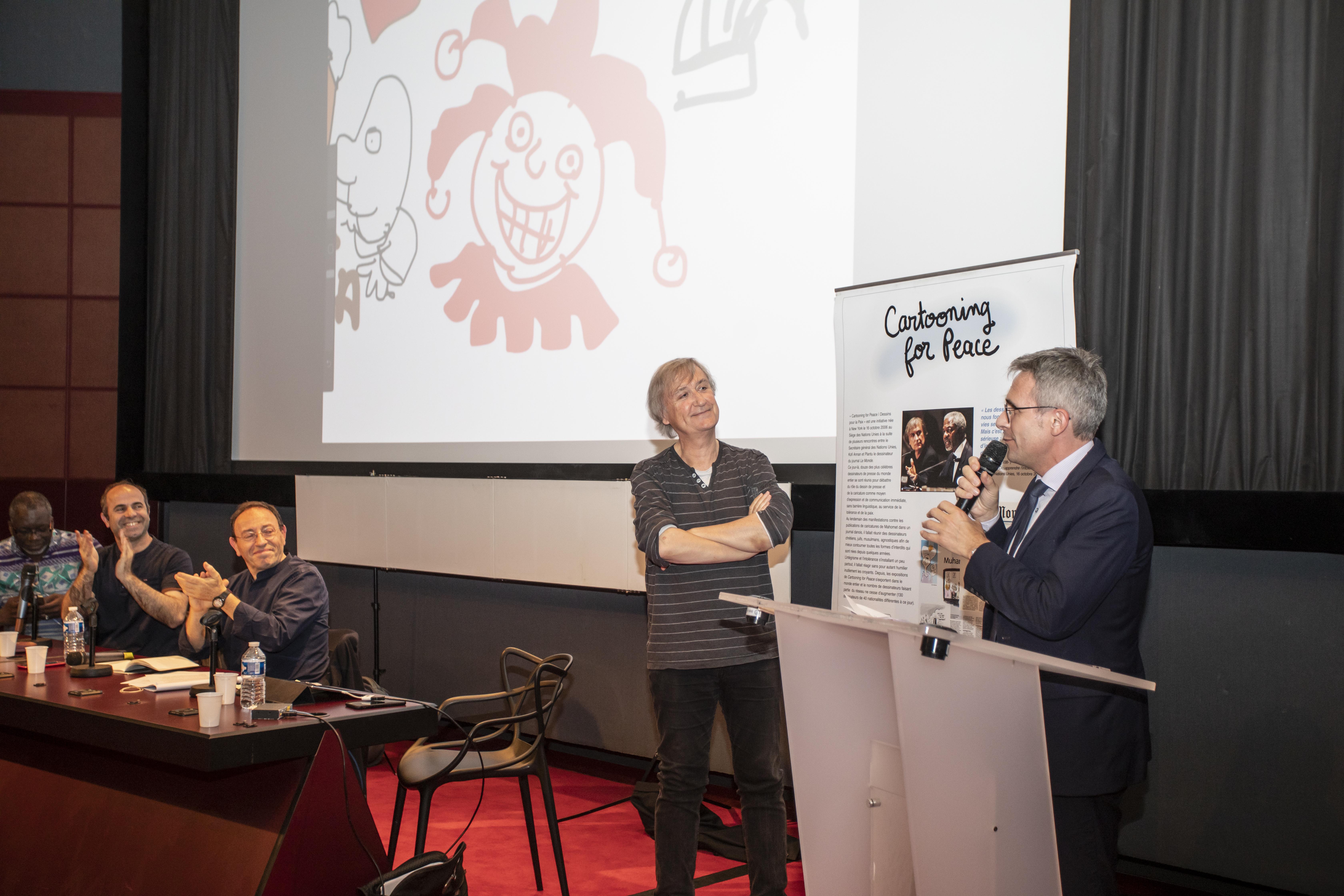 Conférence annuelle «Libérons les crayons» – Stéphane Troussel, président du conseil départemental de Seine-Saint-Denis – crédit : Nicolas Moulard