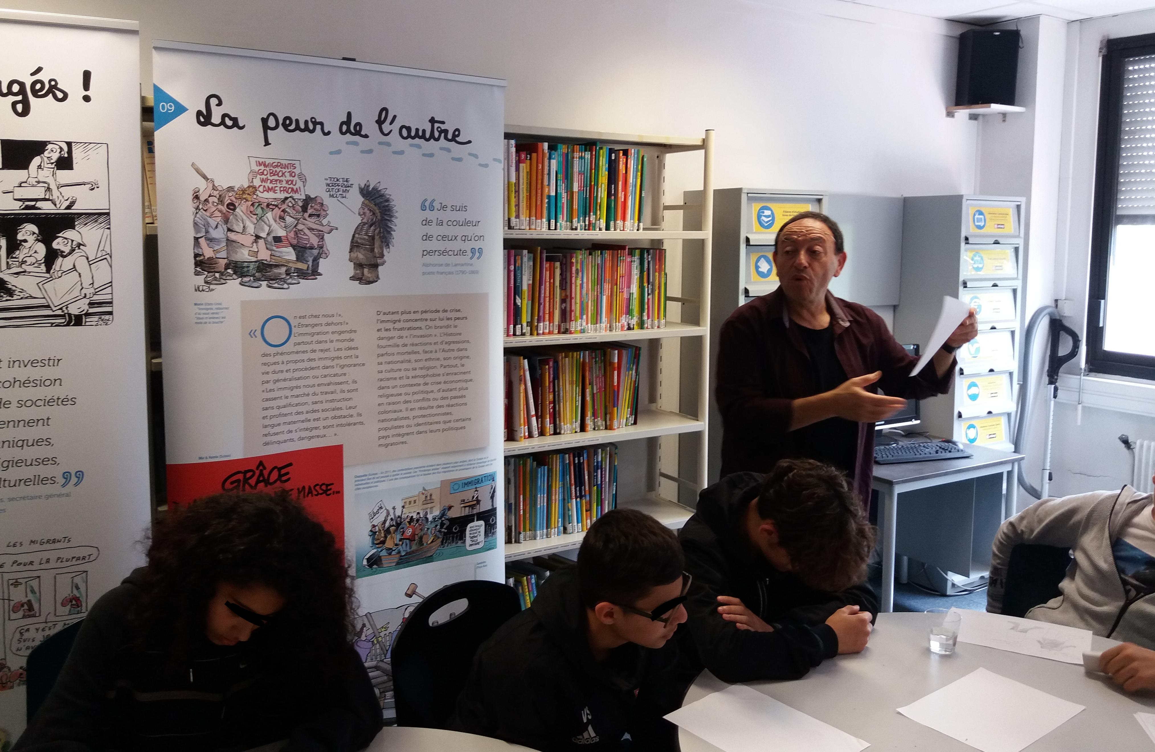 Michel Kichka – Collège Langevin Wallon Rosny-sous-Bois