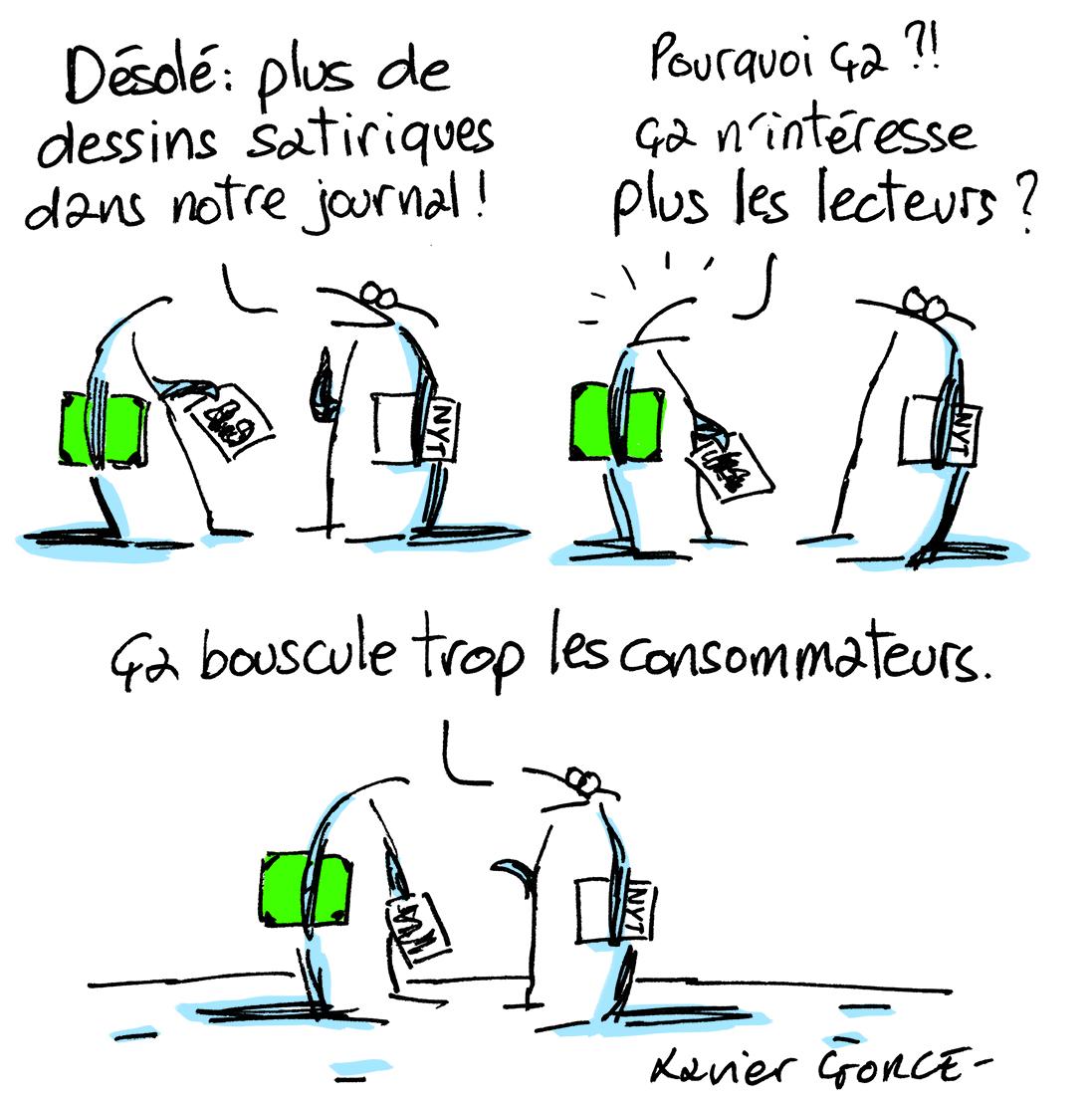 Xavier Gorce (France), Les Indégivrables, 11 Juin 2019
