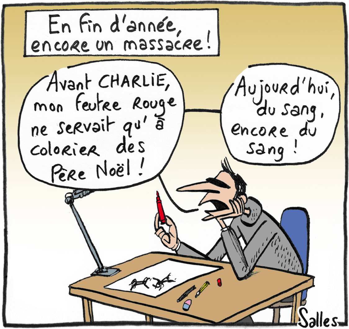 LAURENT SALLES-FRANCE-CARTOONING FOR PEACE