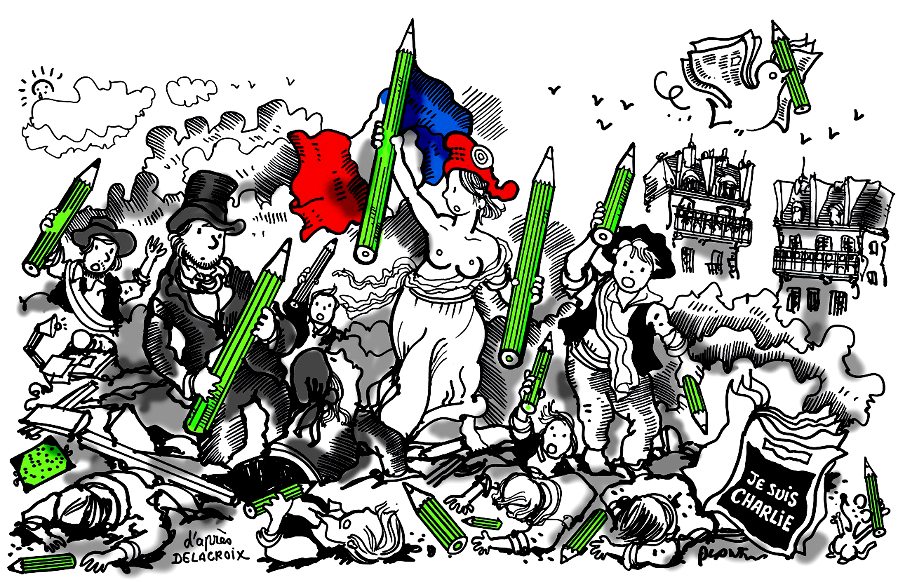 PLANTU-FRANCE-CARTOONING FOR PEACE