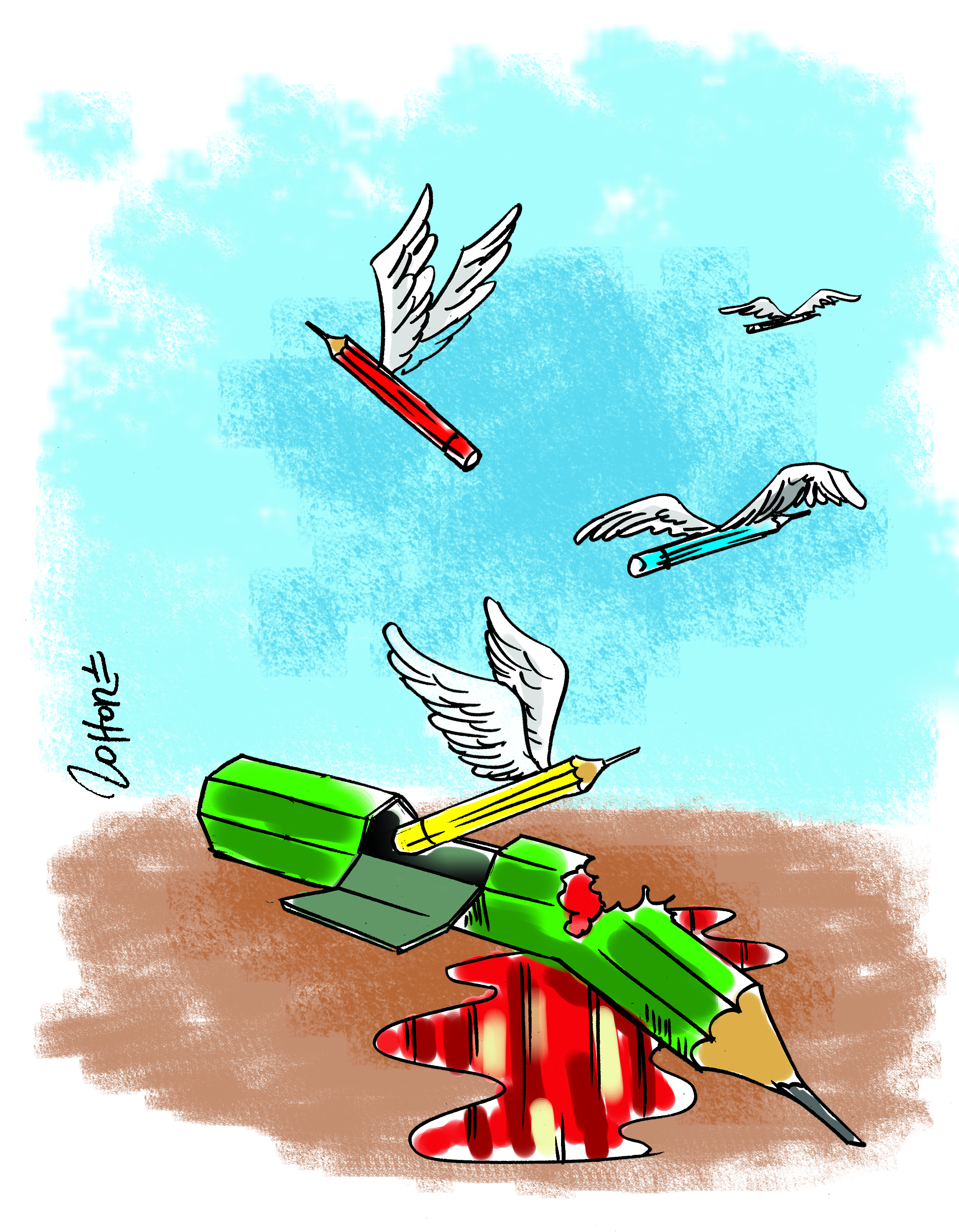 ZOHORE-COTE D'IVOIRE-CARTOONING FOR PEACE