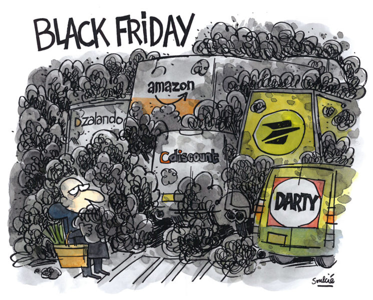 Friday for future » contre « Black Friday » Cartooning for