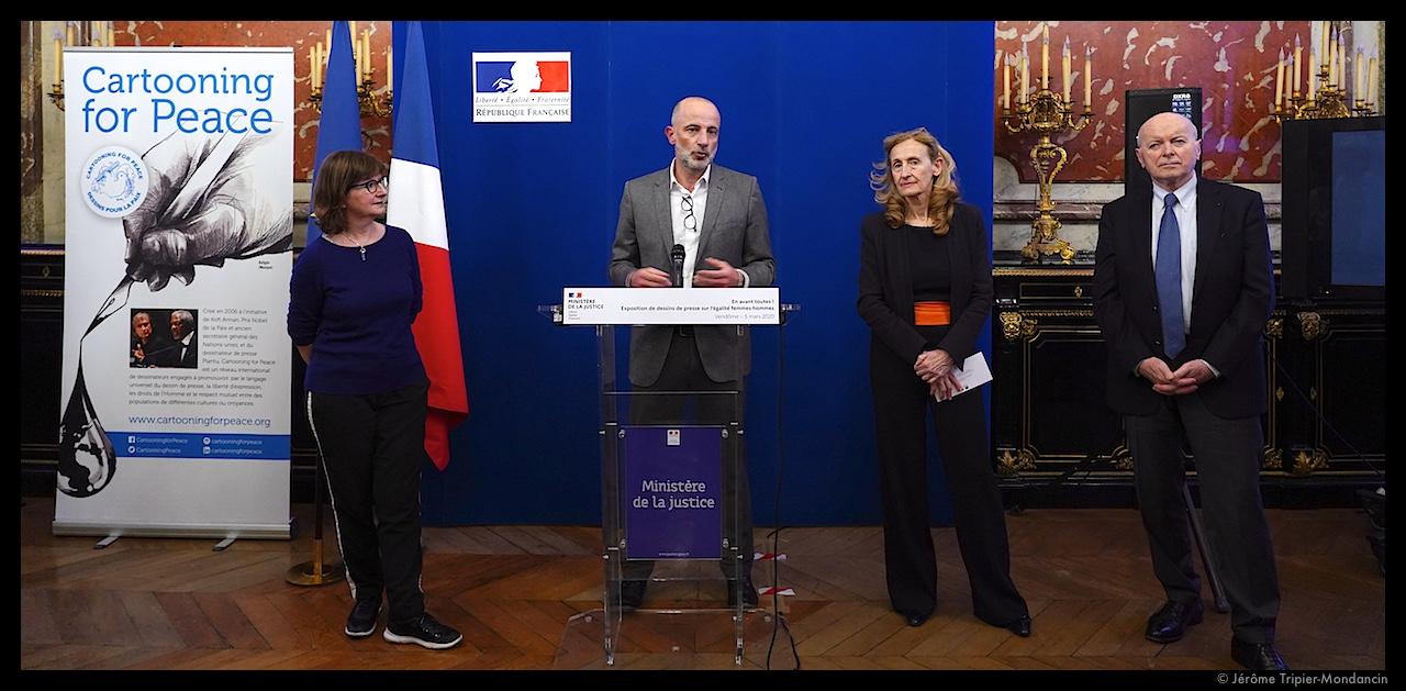 Cécile Coudriou, Kak, Nicole Belloubet et Jacques Toubon © Jérôme Tripier-Mondancin