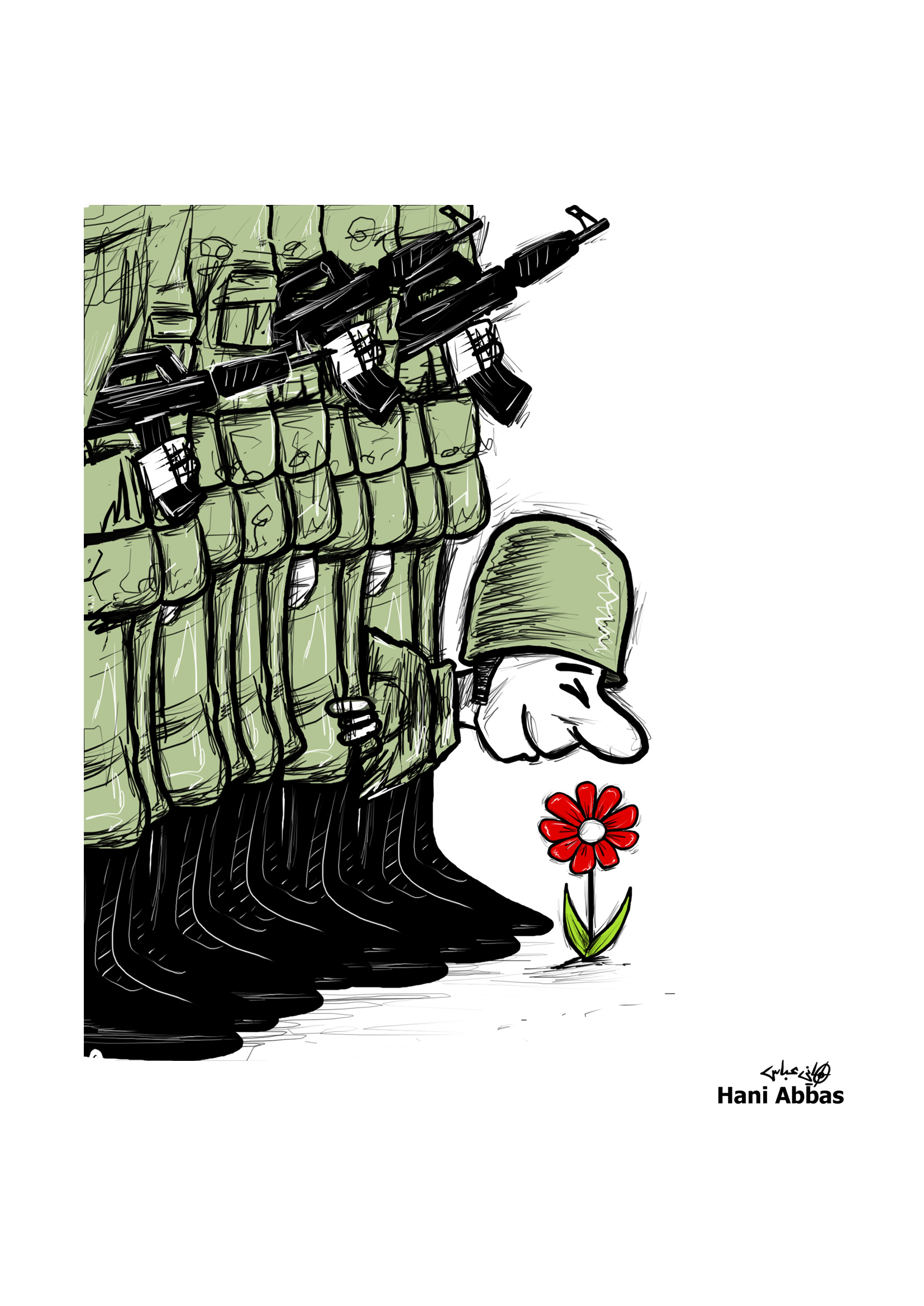 Hani Abbas (Palestine Syrie) – Cartooning for Peace