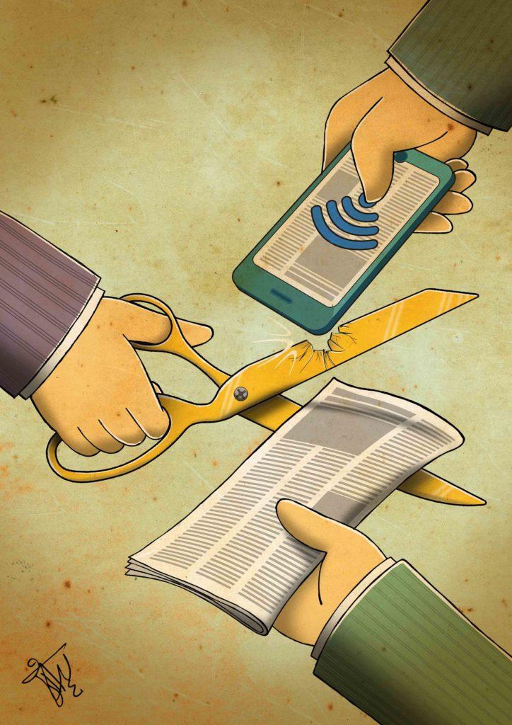 Keyvan Varesi (Iran), lauréat du concours de dessins de presse