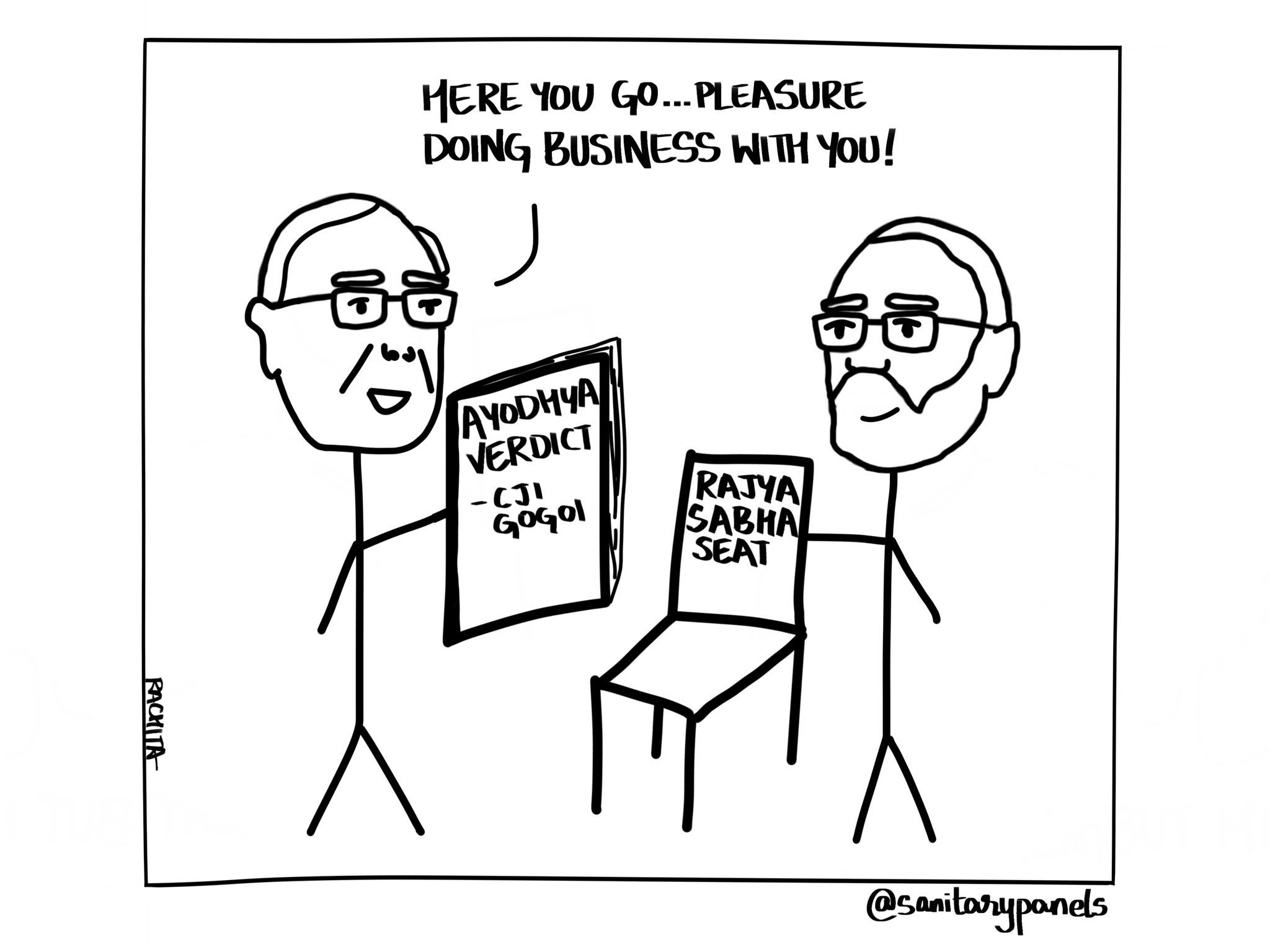 Et voici… Un plaisir de faire affaire avec vous ! Verdict d'Ayodhya Siège de Rajya Sabha